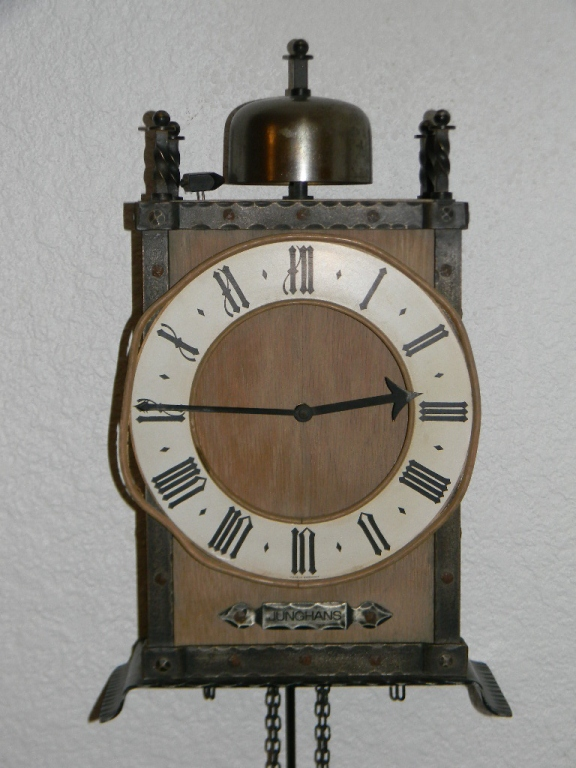 Junghans german arts crafts wall clock for Arts and crafts style wall clock