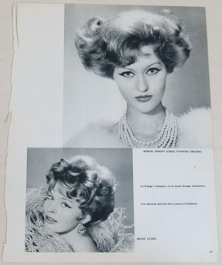 sixties hair styles vintage 1950s 1960s photo prints of hairstyles 1841