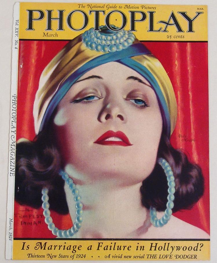 1924 Pola Negri Deco Cover From Theatre Magazine