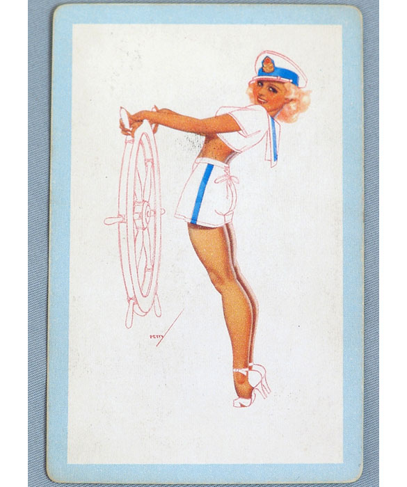 George Petty Pin Up Girls: Vintage Petty Sailor Girl Pin-Up Playing Card