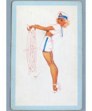 Vintage Petty Sailor Girl Pin-Up Playing Card