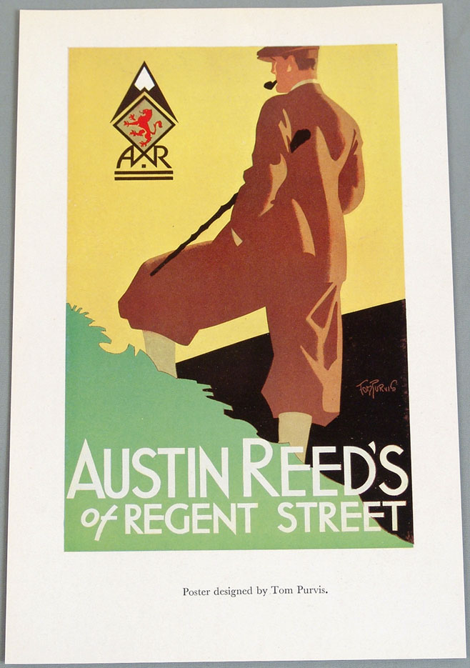 Sold Price 1920s Art Deco Tom Purvis Poster Ad Austin Reed Invalid Date Cdt