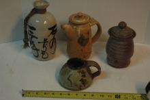 4 piece Pottery collection