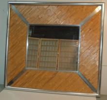 Large wall mirror and wicker design