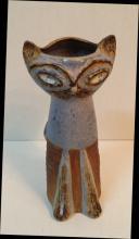 A Mid century modern cat form vase