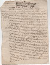 1709 French Mystery document on paper, approx. 13 signatures