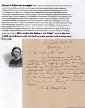 Margaret Elizabeth Sangster (1838 _?? 1912) American