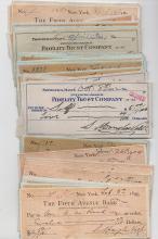 Artist Douglas Volk - 50 bank checks