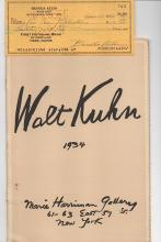Walt Kuhn at the Marie Harriman Gallery 1934