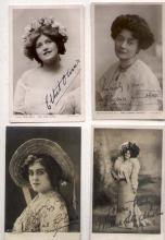 [British Theatre] Lot of 4 signed photos