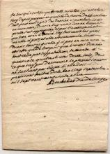 French Mystery Document on paper 1751 - signed d'Audelange