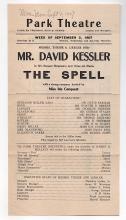 DAVID KESSLER 1907 Theatre Broadside