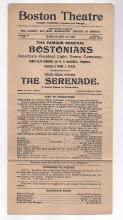 1898 Boston Theatre broadside