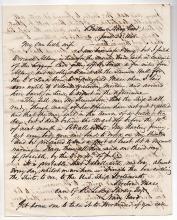 NAVAL HISTORY 1848 Letter