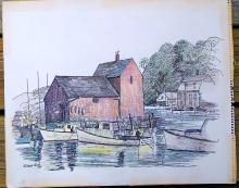 Richard Carle - Gloucester Harbor 1969
