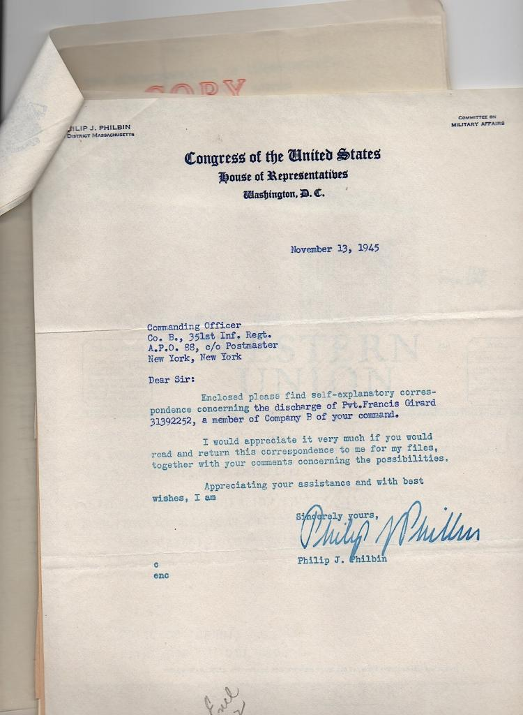 Congressman Philbin Archive - Mass
