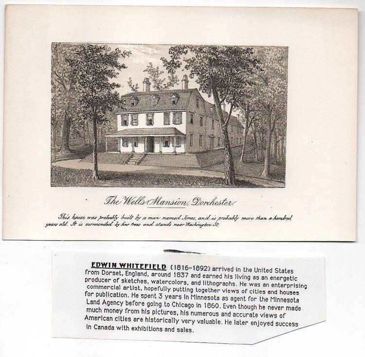 Wells Mansion, Dorchester, Mass. by Edwin Whitefield