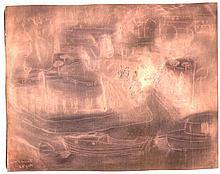 WALT KUHN [1877-1949] Copper Etching Plate
