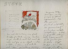 BILL BECKLEY [1946 - ] American artist Drawing