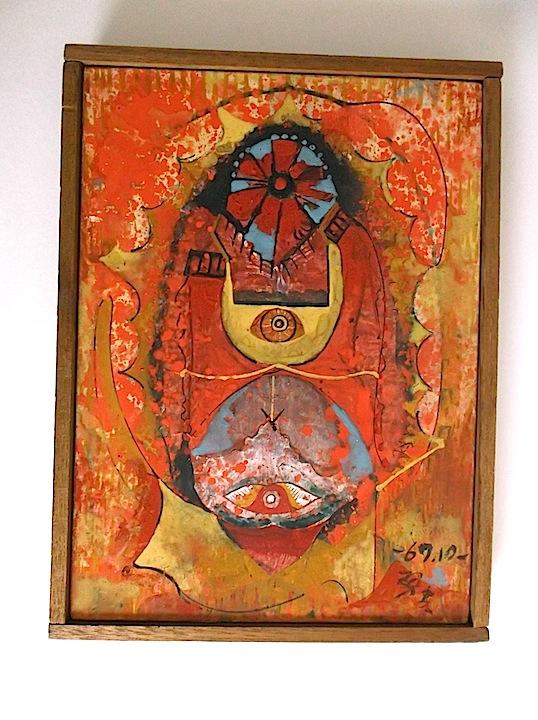 Isao Mizutani (1922-2005) Japanese artist Painting