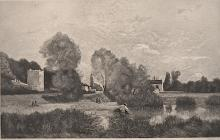 Andre Giroux (1801-1879) French Etching