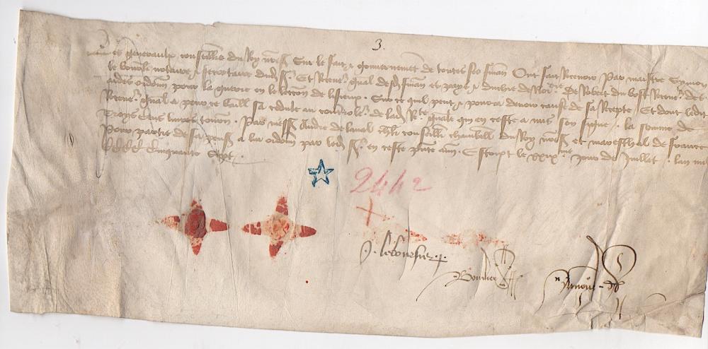 1457 Medieval document