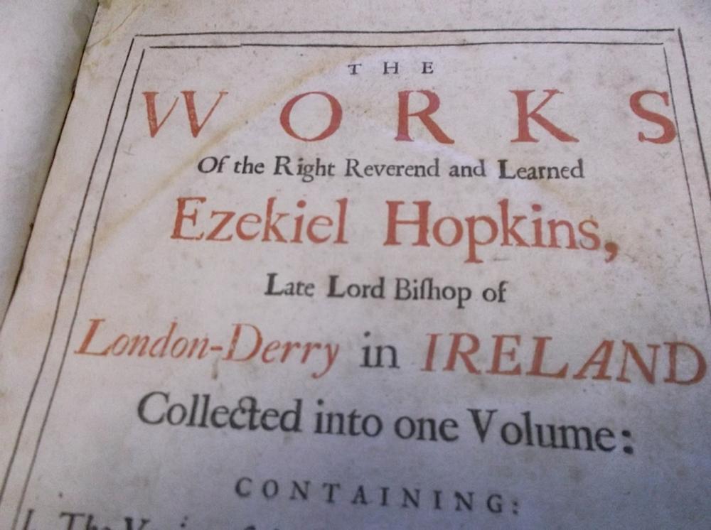 1710 The Works of Ezekiel Hopkins
