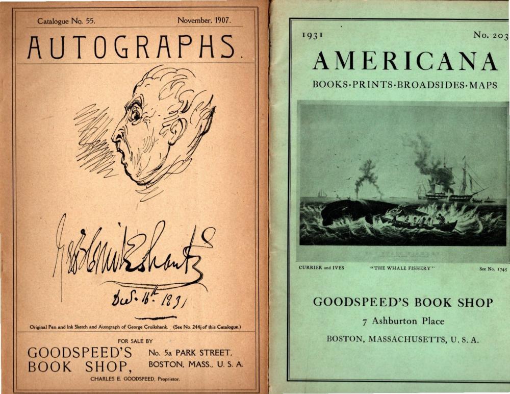 GOODSPEEDS -1907 and 1931 Catalogs