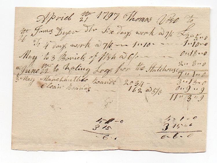 Calais, Maine, 1797 document