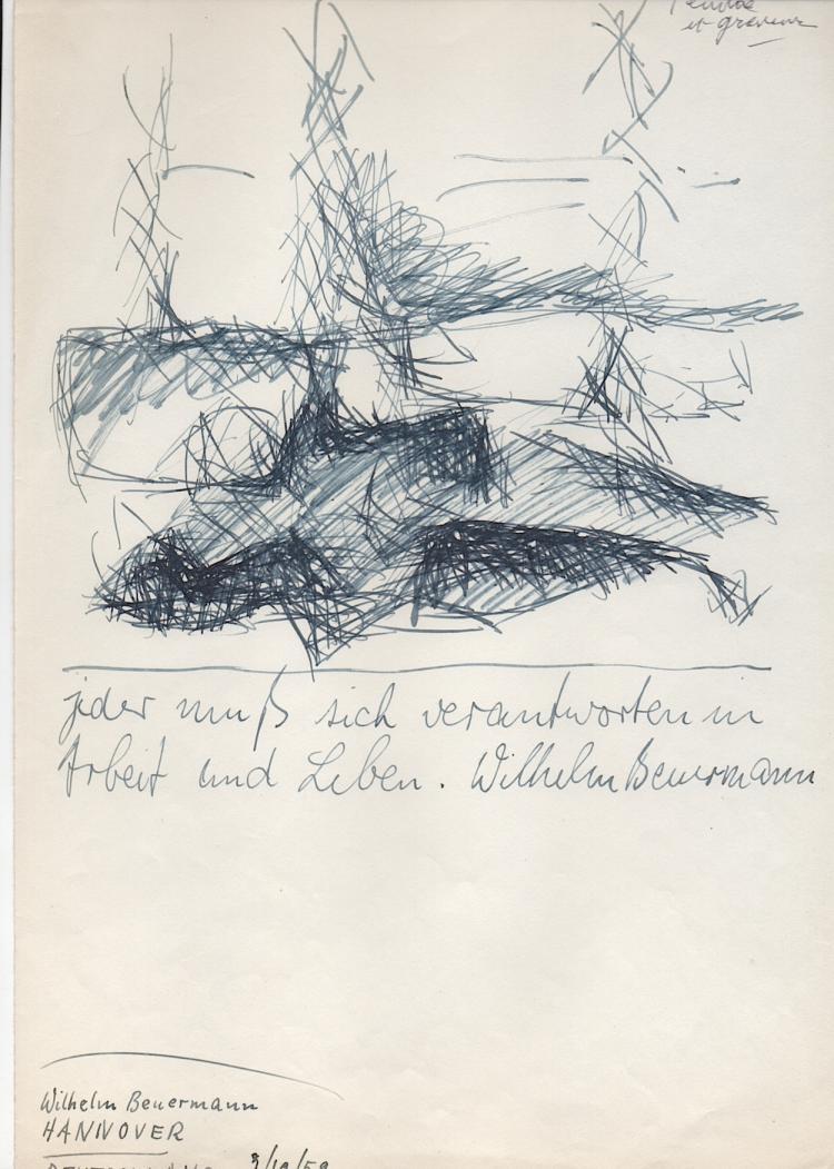 Wilhelm Beuermann (1937-2006) German artist