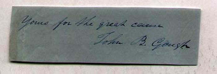 John B. Gough (1817-1886) American temperance orator