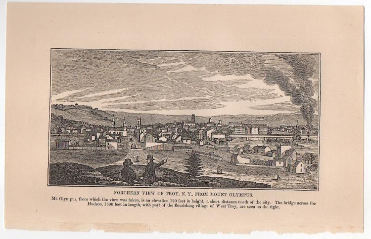 Troy, New York 1841 View