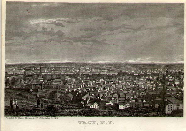 View of Troy, NY by Charles Magnus