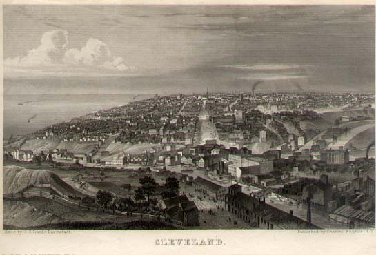 View of Cleveland, Ohio by Charles Magnus