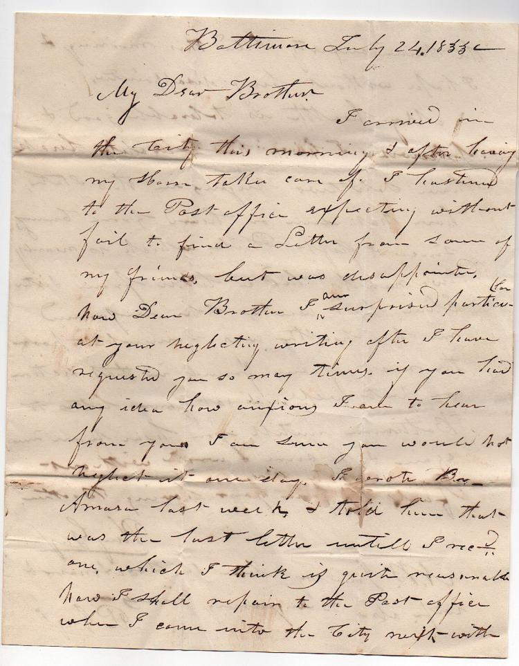 [VERMONT] 2 letters to William Gay 1833