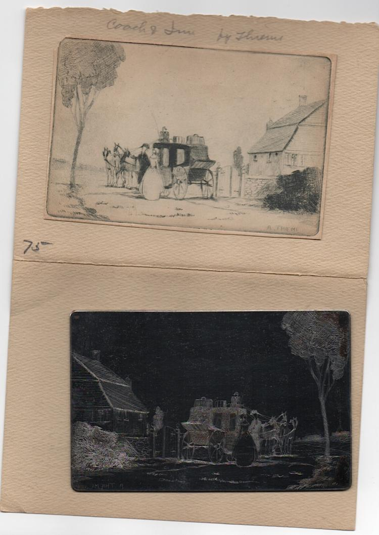 Anthony Thieme Original Etching Plate - RARE!