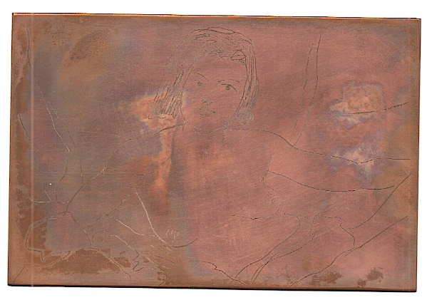 Walt Kuhn ORIGINAL COPPER etching plate