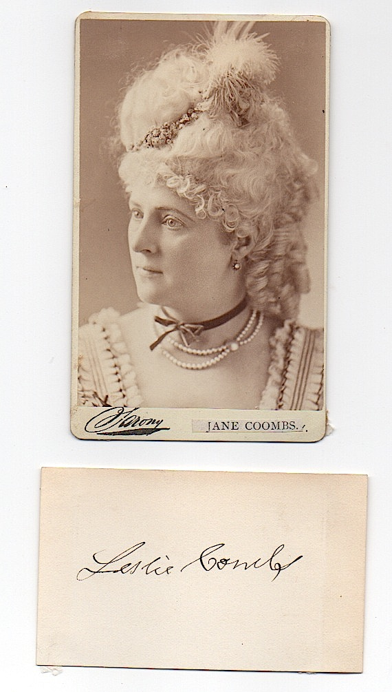 [THEATRE] Jane Coombs (1842-1901?)