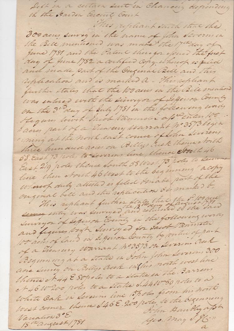 Early Kentucky Pioneer Document