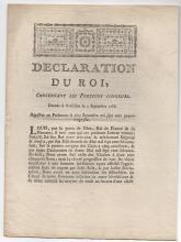 1786 DECLARATION DU ROI, by Louis XVI