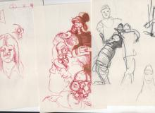 9 ORIGINAL DRAWINGS by Ralph Bakshi