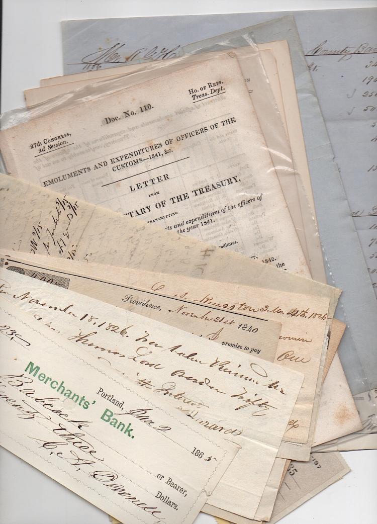 Documents 1814-1874 & some checks