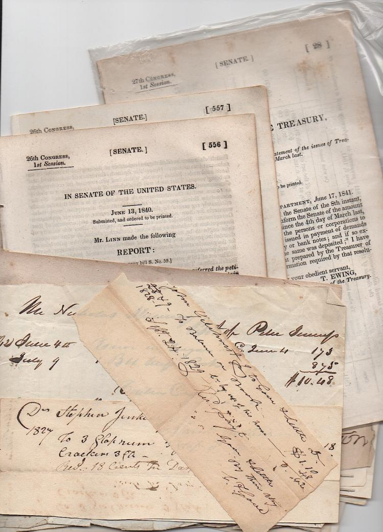 Documents 1809-1891 & some checks