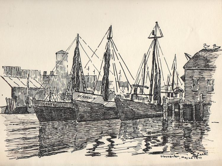 Gloucester Harbor Scene by Carle
