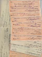 Douglas Volk artist 50 signed checks
