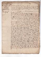 [FRANCE] 1653 letter of procuration