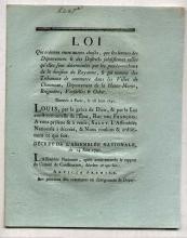 [FRANCE] DECRET De La Convention Nationale, 1791