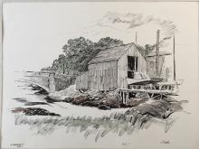 Richard Carle 1960 Drawing of Cohasset