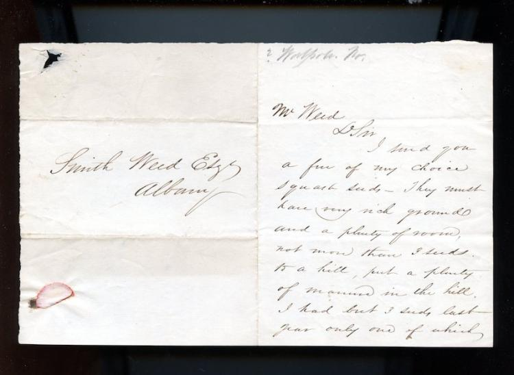 G. S. Murfey c. 1820 Letter to Smith Weed