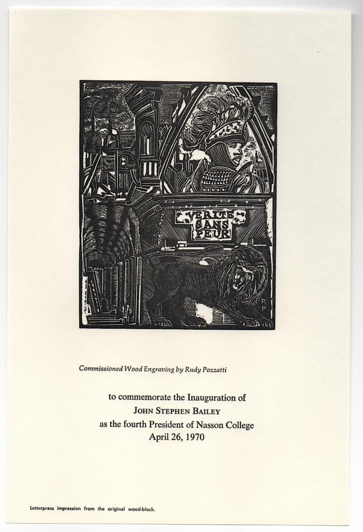 RUDY POZZATTI - noted American printmaker